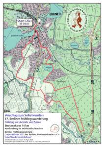 Berliner Frühlingswanderung 2021 – Selbstwandern 14 km