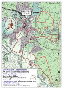 Berliner Frühlingswanderung 2021 – Selbstwandern 22 km