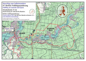 Berliner Frühlingswanderung 2021 – Selbstwandern 31 km