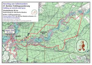 Berliner Frühlingswanderung 2021 – Selbstwandern 40 km