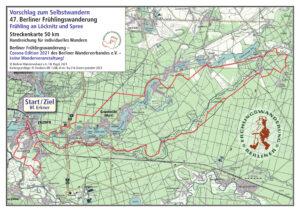Berliner Frühlingswanderung 2021 – Selbstwandern 50 km